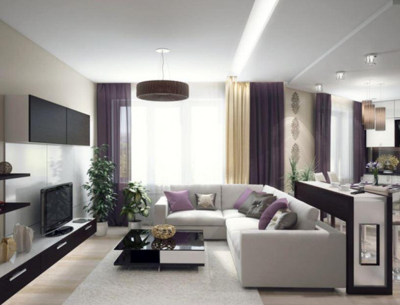 Светлый интерьер однокомнатной квартиры